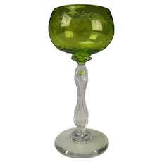 Antique French St Louis Wine Glass Stem