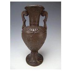 Antique Ferdinand Gerbing FGW Egyptian Egypt Style Terracotta Pottery Vase 19th C