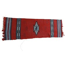 Zapotec Rug Runner Southwestern Indian Mexican Weaving
