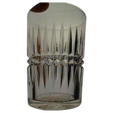 ABP Cut Brilliant Glass Block and Ray Tumbler