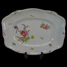 Antique c1750 French Strasbourg Hannong Faience Platter