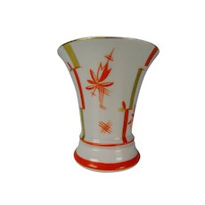 Antique Volkstedt Secessionist Art Deco Porcelain Hand Painted Vase