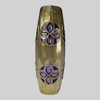 """13"""" Secessionist Bohemian Moser Overlay Cut Back Glass Vase c1910"""