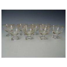 Art Deco Fostoria Glass Cocktail Whiskey Martini Stem Set