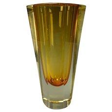 MCM Vintage 60s Mandruzzato Italian Murano Glass Vase