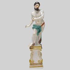 Antique Meissen Porcelain Hercules Figurine 18c Eberlein Sculpture