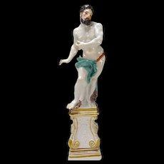 Eberlein Kaendler Meissen 18c Porcelain Hercules Figurine