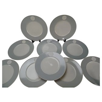 10 KPM Arkadia German Porcelain Dinner Plates