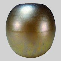 Antique Durand Iridescent Aurene Art Glass Vase Signed