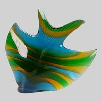 Exbor Czech Sommerso Large Glass Fish Sculpture by Rozinek Honzik
