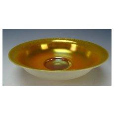 Large Antique Steuben Aurene Calcite Cased Art Glass Bowl