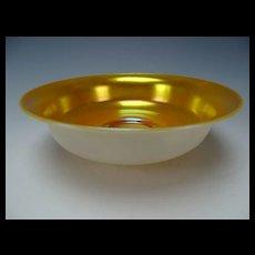 "Fine Antique Steuben Aurene Calcite Art Glass Bowl 8"""