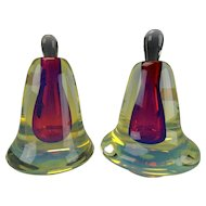 Stellar Charles Wright Multi Cased Fine Studio Art Glass Perfume Bottles