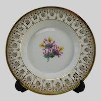Antique KPM Berlin Porcelain c1845 Hand Painted Plate or Bowl