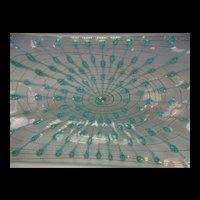 "Modernist c1960 Higgins Studio 14"" Art Glass Tray"
