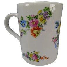 Antique 18c Worcester Porcelain Mug Cup Tankard 1st Period