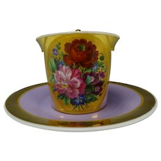 Antique Royal Vienna Austrian Imperial Porcelain Cup and Saucer