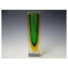 Modernist Seguso Flavio Poli Cased Art Glass Geode Vase