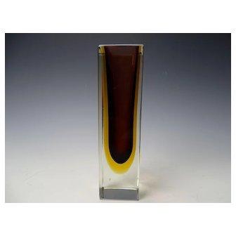 Seguso Flavio Poli Geode Cased Are Glass Vase