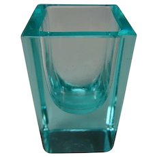 Vintage Moser Cut Faceted Geode Glass Shot Tumbler