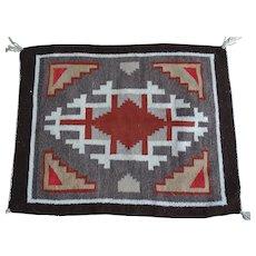 Vintage Native American Navajo Rug Mat