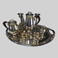 Vintage Taxco Avant Sterling Silver Tea Coffee Serving Set