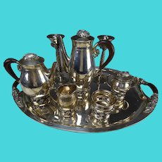Vintage Taxco Avant Sterling Silver Tea Coffee Serving Set