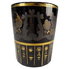 c1815 Antique Russian Imperial Glass Amethyst Beaker Tumbler