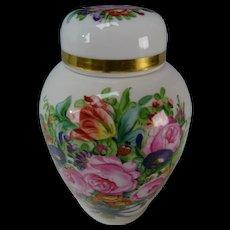Hand Painted Nymphenburg Porcelain Prof Wackerle Flowers Potpourri Vase