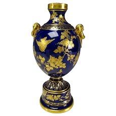 Aesthetic Czech Pirkenhammer Porcelain Cobalt Blue Vase
