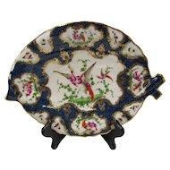 Antique 19c Samson Porcelain China 18c English Worcester Hand Painted Fish Plate