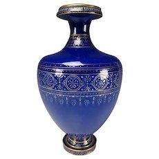 """Antique Sevres Porcelain Artist Signed Dated 14"""" Vase"""