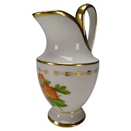 19c German Austrian Porcelain Jug Milk Pitcher Fine Hand Painting