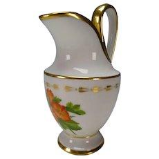 19c German Austrian Porcelain Jug Milk Pitcher Fine Hand Painting