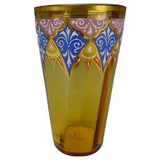 Antique Signed Moser Enameled Juice Glass Tumbler