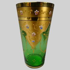 Fabulous Moser Glass Gilt and Enamel Juice Cup c1900
