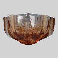 Art Deco Moser Glass Sculptural Bowl