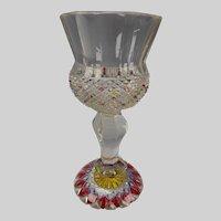 Fantastic Bohemian Egermann Biedermeier Glass Chalice Goblet