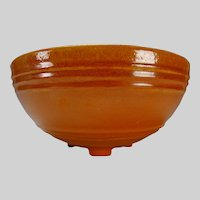 30s Pacific Pottery Hostess Ware Apache Red Footed Serving Bowl