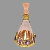 1930s Pink Hoffmann Perfume with Austrian Jeweling
