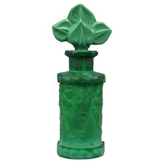 Hoffmann Czech Perfume in Malachite Glass with Martele Surface