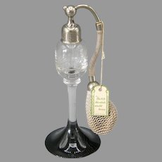 1931-32 DeVilbiss Perfume Atomizer Cut Crystal & Black