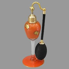 DeVilbiss 1925 Orange with Black & Gold Perfume Atomizer