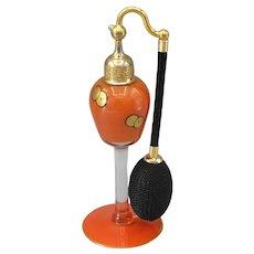 DeVilbiss 1925 Orange with Black & Gold Perfume Atomizer