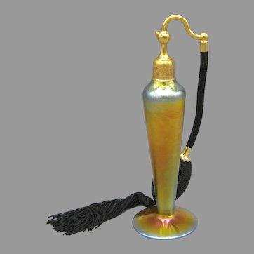 1925 DeVilbiss Steuben Gold Aurene Perfume Atomizer