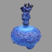 Czech Ingrid Lapis Glass Perfume Bottle