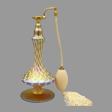 1920s Durand Art Glass Perfume Atomizer
