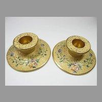 Pair of DeVilbiss Glass Candlesticks 1925/27