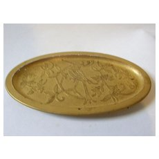 1927 DeVilbiss Gold Kingfisher Pin Tray