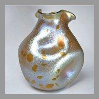 Loetz Platinum Oil Spot Art Glass Vase